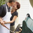 Stock Photo: Couple At A Bbq