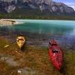 Kayaks On The Shore — Stock Photo