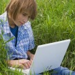 Boy Using Laptop — Stock Photo #31720957