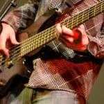 Bass Guitar Player — Stock Photo
