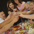 Stock Photo: Teenagers Toast