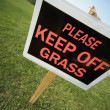 Stockfoto: Keep Off Grass Sign