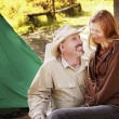 Stock Photo: Couple Enjoying Camp Site