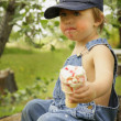 Boy With Ice Cream Cone — Stock Photo