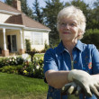 Senior WomGardening — Stock Photo #31721689