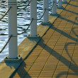 Waterfront Railing — Stock Photo