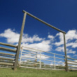 Fence And Gate On Farm — Stock Photo #31722273