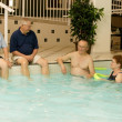 Seniors In A Swimming Pool — Stock Photo