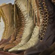 Stock Photo: Vintage Leather Boots
