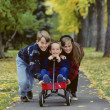 Children Playing With Wagon — Stockfoto #31722761