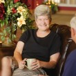 Stock Photo: Seniors Having Coffee Together