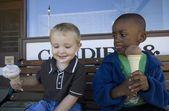 Boys Eating Ice Cream Cones — Stock Photo