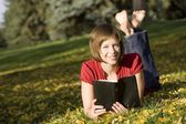 Woman Reading Bible — Stock Photo