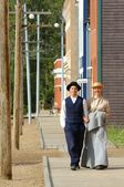 People In Period Costume In Fort Edmonton, Alberta — Stock Photo