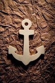 Anchor On Textured Background — Stock Photo