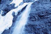 Closeup Of Winter Water Waterfall — Zdjęcie stockowe