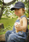 Boy With Ice Cream Cone — Stockfoto