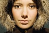 Young Woman With Winter Coat — Stock Photo