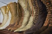 Vintage Leather Boots — Stock Photo