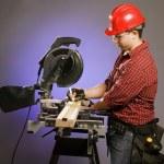 Tradesman Using A Table Saw — Stock Photo #31753023
