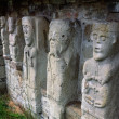 Stock Photo: Carved Figures Of Churchmen On White Island, Lough Erne, Co. Fermanagh