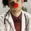 Sad Clown Doctor — Stock Photo