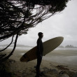 Surfer Looking Out To Water — Stock Photo #31754467