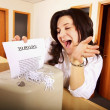 Stock Photo: Business WomShredding To Do List