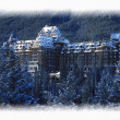Stock Photo: Banff Springs Hotel In Banff, Canada