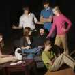 Stock Photo: Group Of Teens Having Intervention