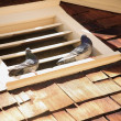 Pigeons Sitting On Roof Vent — Stock Photo #31755627