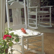 Stock Photo: Rocking Chairs On Country Porch