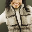 WomWith Fur Vest — Stock Photo #31755675