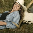 Stock Photo: WomWearing Western Clothing