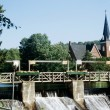 Church In Background Of A Dam — Stock Photo #31756445