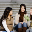 Friends Talking On Steps — Stock Photo #31756785
