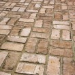 Stock Photo: Brick Sidewalk