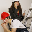 Stock Photo: Supervisor And Tradesman