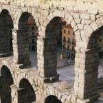 Roman Aqueduct, Segovia, Castile And Leon, Spain — Stock Photo