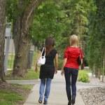 Friends Walking On The Sidewalk — Stock Photo #31759275