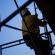 Construction Worker Climbing — Stock Photo #31759995
