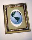 The Globe In A Frame — Stok fotoğraf