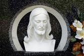 キリストの頭の彫刻画 — ストック写真