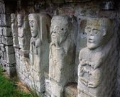 Carved Figures Of Churchmen On White Island, Lough Erne, Co. Fermanagh — Stock Photo