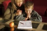 Mother And Son Praying Together — Stock Photo