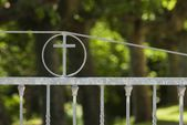 Iron Church Gates — Stock Photo