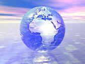 3d globus — Stock fotografie