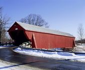 Covered Bridge, Cowansville, Quebec, Canada — Foto Stock