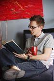 A Man Reading Book — Stock Photo