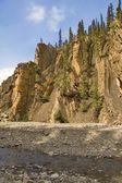Rock Formations Above Allstones Creek, Alberta, Canada — Stock Photo
